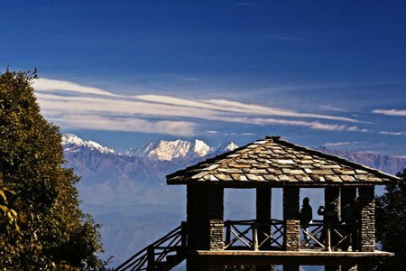 Binsar- summit point, appropriate for revellers