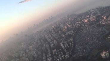 Flying Trip Over the City