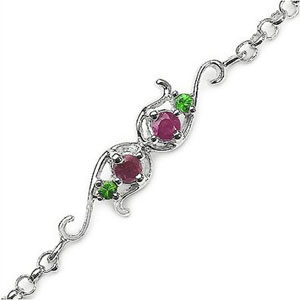 Indian Touch Silver Rakhi