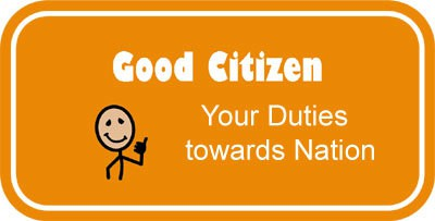 our duties towards the nation (a) to abide by the constitution and respect its ideals and institutions, the national flag and the national anthem (b) to cherish and follow the noble ideals which inspired our national struggle for freedom (c) to uphold and protect the sovereignty, unity and integrity of india (d) to defend the country and render national.
