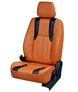 Musicar Beige Leather Car Seat Covers