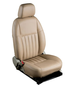Ovion Red Art Car Leather Seat Covers