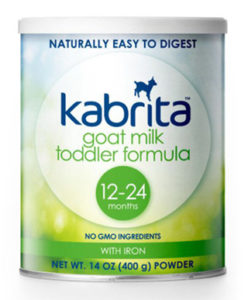 Kabrita goat milk toddler formula