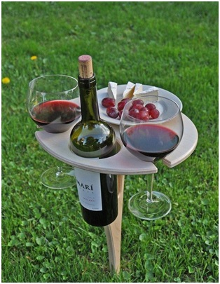 The outdoor wine table